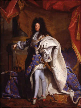 Premium poster  Louis XIV in Royal Costume - Hyacinthe Rigaud