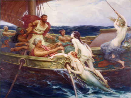 Wall sticker  Ulysses and the Sirens - Herbert James Draper