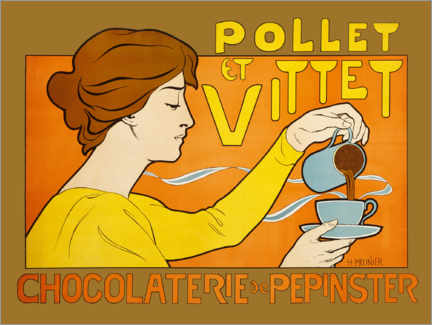 Foam board print  Chocolaterie Pollet et Vittet - Henri Georges Jean Isidore Meunier