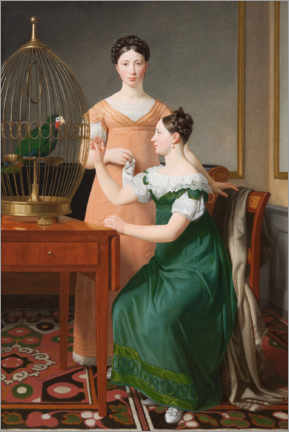 Foam board print  Mendel Levin Nathanson's daughters, Bella and Hanna - Christoffer-Wilhelm Eckersberg