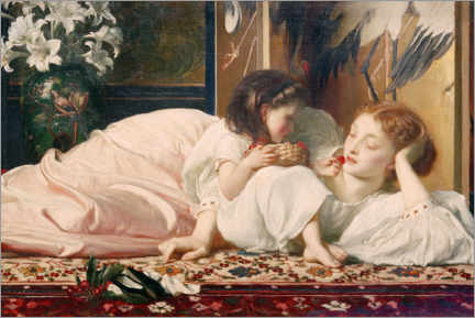 Wood print  Mother and Child - Frederic Leighton