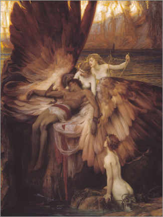 Premium poster  Mourning for Icarus - Herbert James Draper