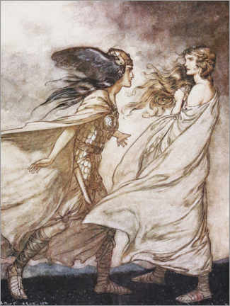 Aluminium print  Siegfried and the Twilight of the Gods - Arthur Rackham