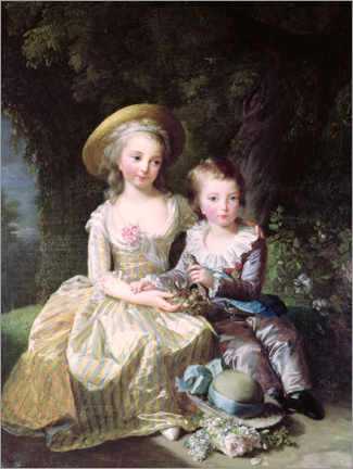 Canvas print  Marie-Therese-Charlotte of France as a child - Elisabeth Louise Vigee-Lebrun