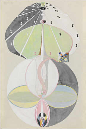 Wood print  Tree of Knowledge, No. 5 - Hilma af Klint