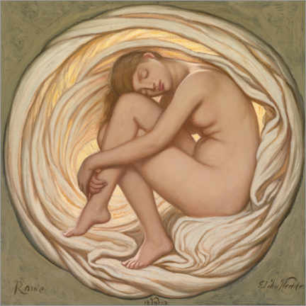 Premium poster  The Heart of the Rose - Elihu Vedder