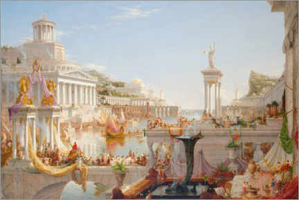 Foam board print  The Consummation of Empire - Thomas Cole