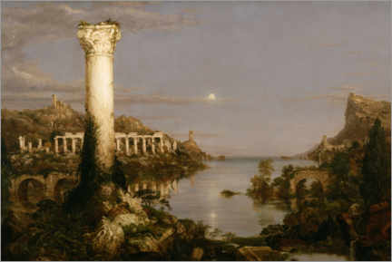 Canvas print  Course of Empire Desolation - Thomas Cole