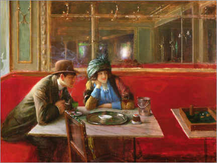 Canvas print  At the Cafe - Jean Beraud