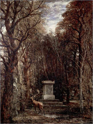 Gallery print  The Cenotaph to Reynold's Memory - John Constable