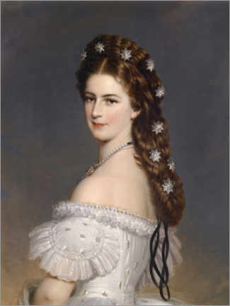 Canvas print  Empress Elisabeth with diamond stars - Franz Xaver Winterhalter