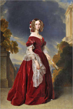 Wall sticker  Queen Marie Louise van België - Franz Xaver Winterhalter