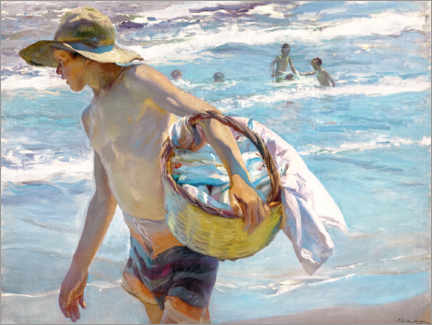 Canvas print  Young fisherman - Joaquin Sorolla y Bastida