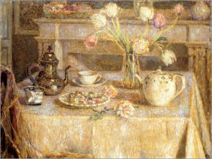 Canvas print  The white tablecloth - Henri Le Sidaner