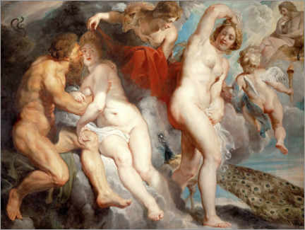Aluminium print  Ixion, deceived by Juno - Peter Paul Rubens