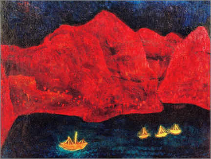 Premium poster  South coast in the evening - Paul Klee