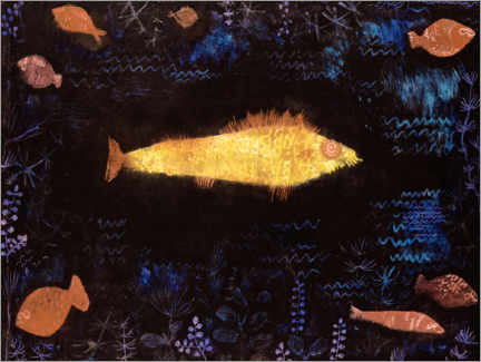 Foam board print  The goldfish - Paul Klee