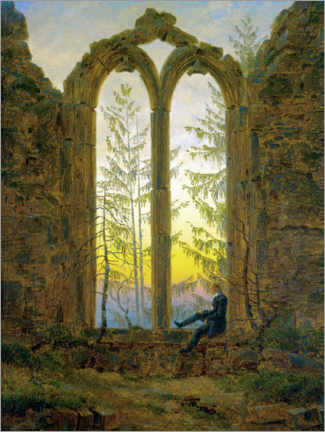Aluminium print  The Dreamer - Caspar David Friedrich