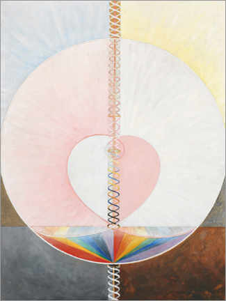 Aluminium print  The Dove, No. 1 - Hilma af Klint