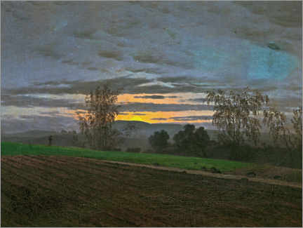 Canvas print  New-plowed field - Caspar David Friedrich