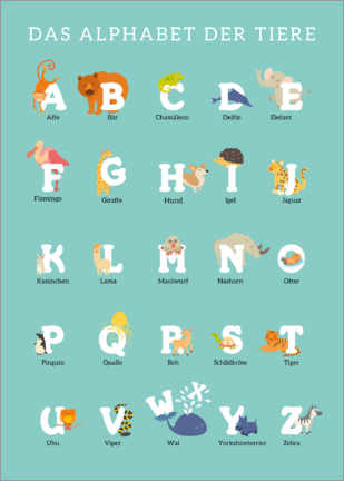 Premium poster  Animal Alphabet (german) - Kidz Collection