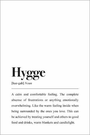 Wood print  Hygge Definition - Pulse of Art