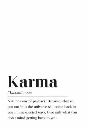 Acrylic print  Karma Definition - Pulse of Art