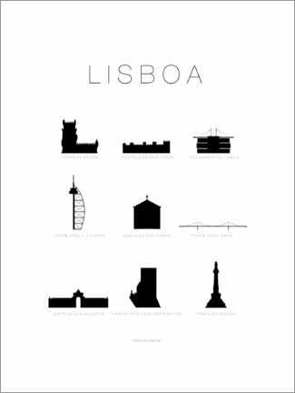 Wall sticker  Lisbon (German) - Schumff