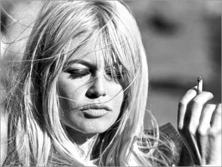 Acrylic print  Brigitte Bardot - blown away - Celebrity Collection