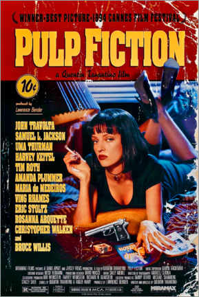 Canvas print  Pulp Fiction (English) - Entertainment Collection