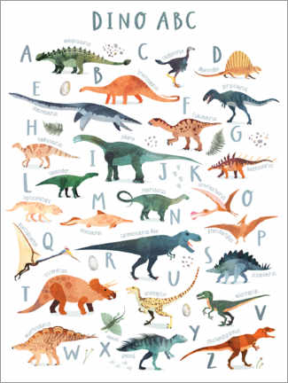 Foam board print  Happy Dinosaur ABC - Victoria Borges