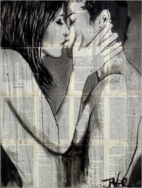 Premium poster  Traces of a kiss - Loui Jover