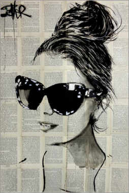 Acrylic print  The sunglasses - Loui Jover
