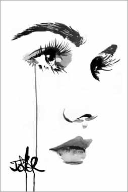 Canvas print  With tears in the eyes - Loui Jover