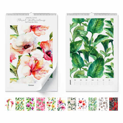 Wall calendar  Floral Watercolours 2021