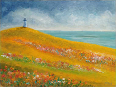 Wood print  The Lighthouse Meadow - Ángeles M. Pomata