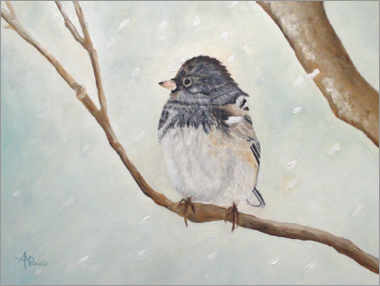 Premium poster  Bird in the Snowstorm - Ángeles M. Pomata