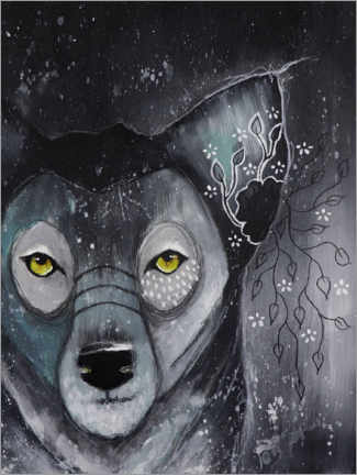 Premium poster Lonely wolf