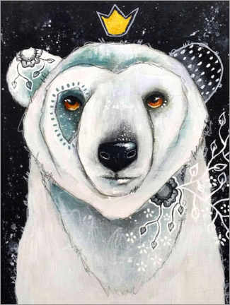 Gallery print  Polar Bear King - Micki Wilde