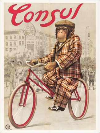 Canvas print  Monkey on a wheel - Advertising Collection