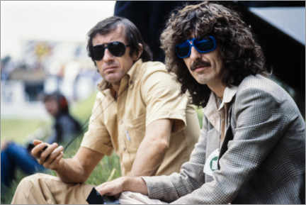Canvas print  Jackie Stewart and George Harrison, Hockenheimring 1978