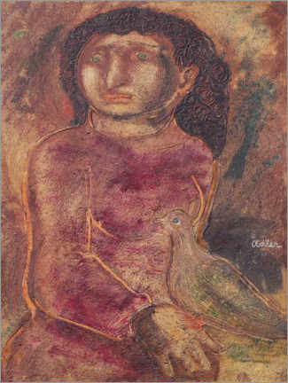 Gallery print  Woman with Dove - Jankel Adler