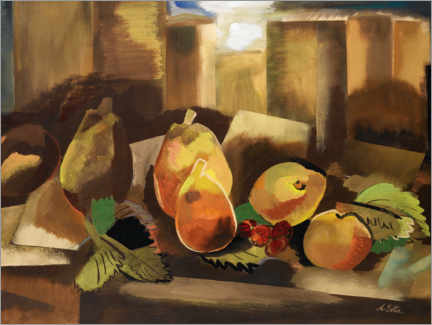 Canvas print  Still life with pears - Alexandra Exter