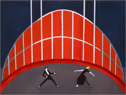 Wall sticker  Stage design for the circus arena - Alexandra Exter