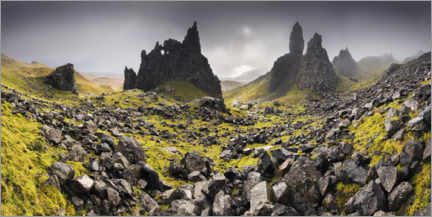 Gallery print  The Old Man of Storr under dark clouds - The Wandering Soul
