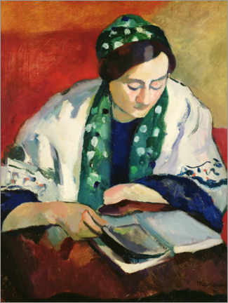 Premium poster  Readers in the Green Bonnet - Henri Manguin