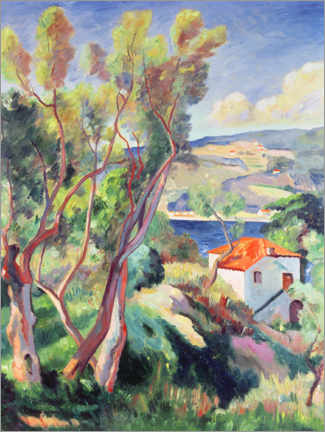 Wood print  Route to Villefranche - Henri Manguin