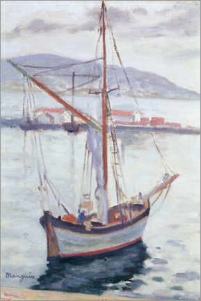 Canvas print  Yachts in Saint Tropez - Henri Manguin