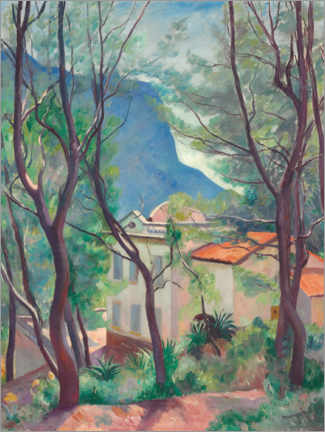 Premium poster  House in the trees, Villecroze - Henri Manguin