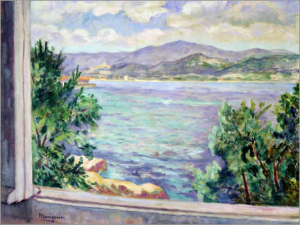 Wood print  Gulf of St. Tropez from the Oustalet - Henri Manguin